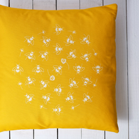 SALE Bees in Clover canvas cushions