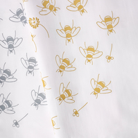 Hand Printed Set of 4 Napkins - Bees in Clover Collection