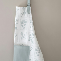 Cotton Hedgerow Apron, Duck Egg Blue Apron