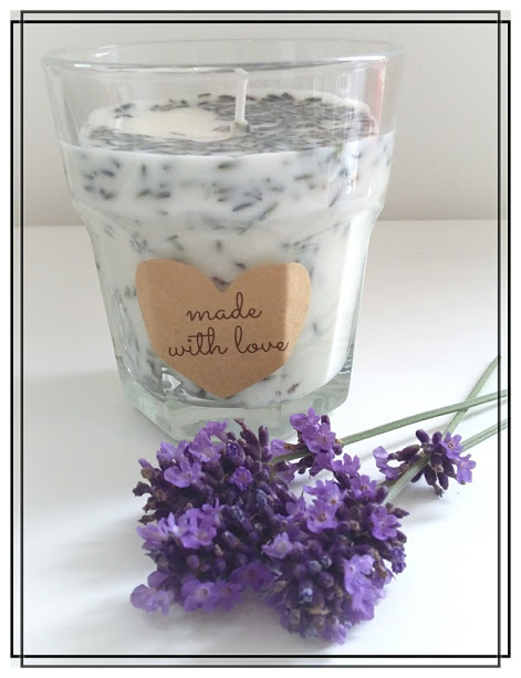 Lavender, Lemon & Ginger 100% Eco Soy Wax Scented Candle with Essential Oils