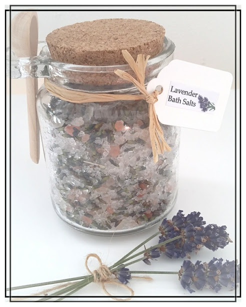 Homemade Lavender or Lemon Bath Salts with EPSOM & Himalayan Salts