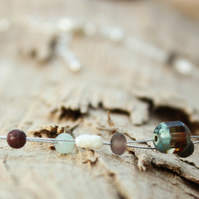 Wild Pearl, Agate and Czech Glass Choker Necklace