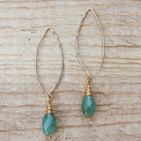 Gold Filled Threaders with Wire Wrapped Aventurine Beads