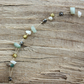 Chrysoprase, Pearl and Czech Glass Choker Necklace