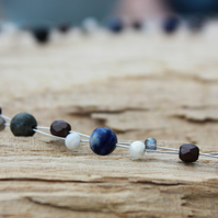 Sodalite, Labradorite and Mother of Pearl Choker Necklace
