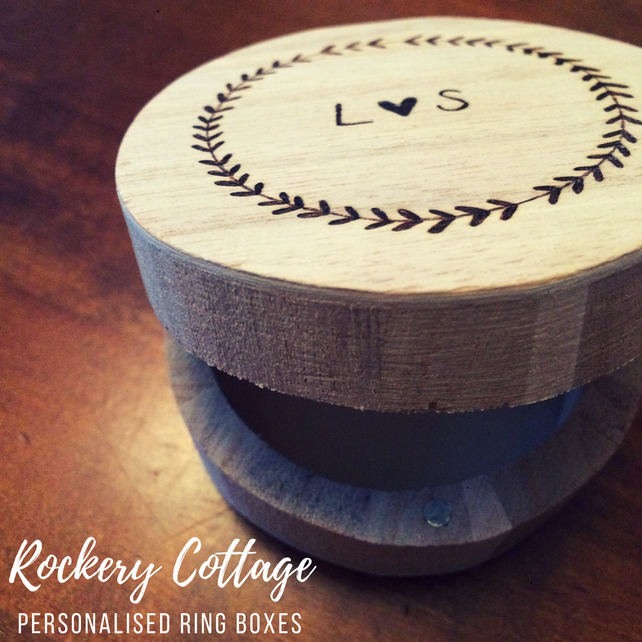 Ring box, wedding ring box, ring pillow, ring bearer, personalised box, wood box