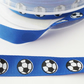 2 metres blue football ribbon 12mm wide