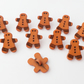 10 gingerbread man buttons 17mm