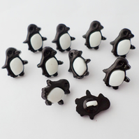 10 penguin shape buttons 15mm