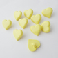 10 lemon heart shape buttons size 24