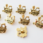 10 steam train shape buttons 18mm