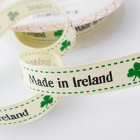 Made in Ireland ribbon 16mm wide craft gift wrap ribbon