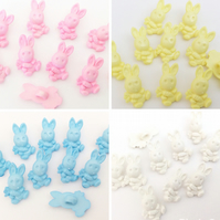 10 rabbit with carrot baby buttons 15mm