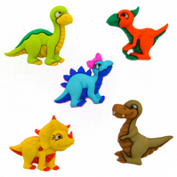 Dress It Up Dino Mite craft buttons Pack of 5
