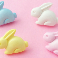 10 Bunny Rabbit buttons 15mm