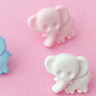 10 Baby Elephant buttons 15mm