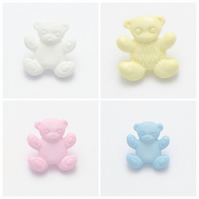 10 Baby Teddy Bear buttons 15mm