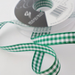Berisfords Green Gingham ribbon 10mm wide x 2 metres