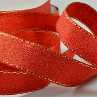 Lurex glitter ribbon Red 9mm x 3 metres