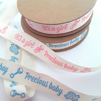 New baby ribbon 15mm wide x 2 metres