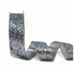 Satin crystal glitter ribbon 15mm wide x 2 metres pewter