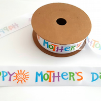 Mothers Day Satin Ribbon 25mm x 2 metres