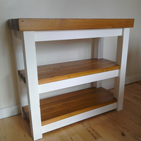 Rustic free standing storage unit, kitchen Island
