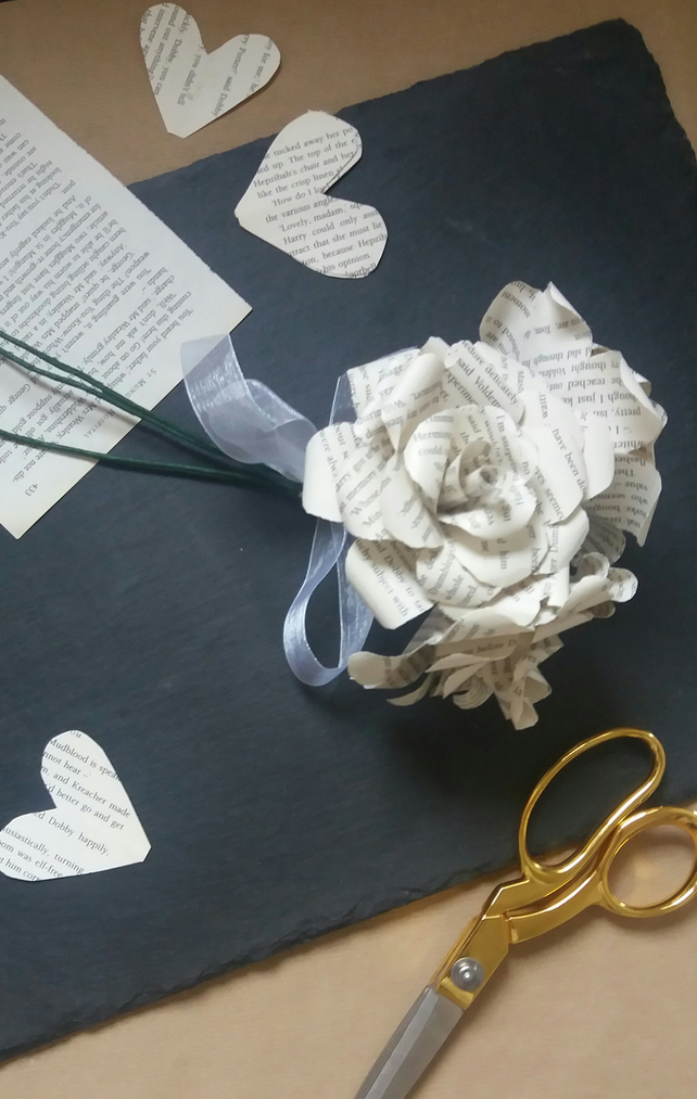 Classic Book Page Rose Bouquet