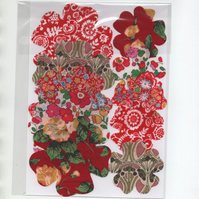 ChrissieCraft creative sewing KIT - Pkt 10 LIBERTY die-cut flowers for APPLIQUE