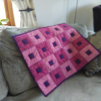 ChrissieCraft hand-finished bright patchwork BABY CRIB QUILT