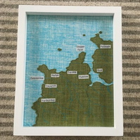 Map of cornwall area - Custom made to order