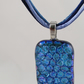 Dichroic glass pendant - Blue paving