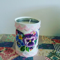 pansy candle