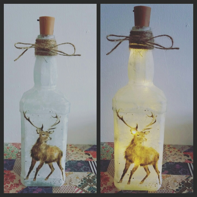 stag bottle lamp