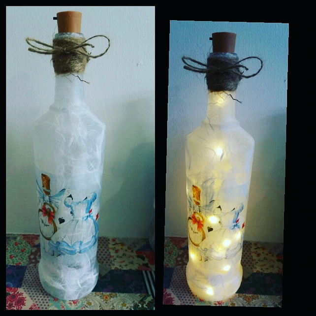 alice in wonderland drink me bottle lamp