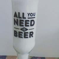 all you need is beer candle