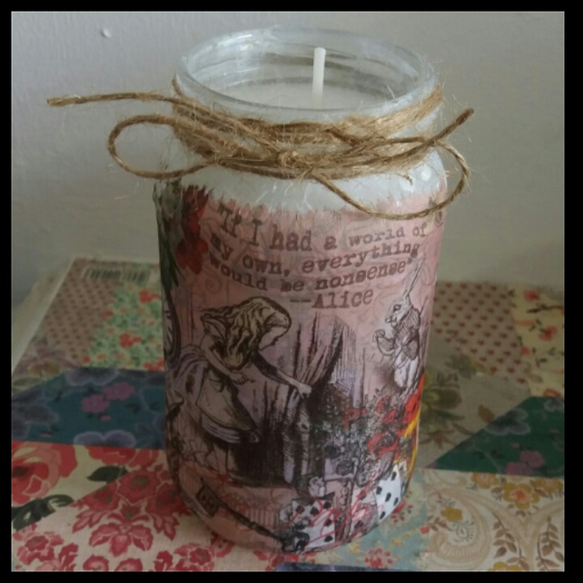 alice in wonderland world of my own candle