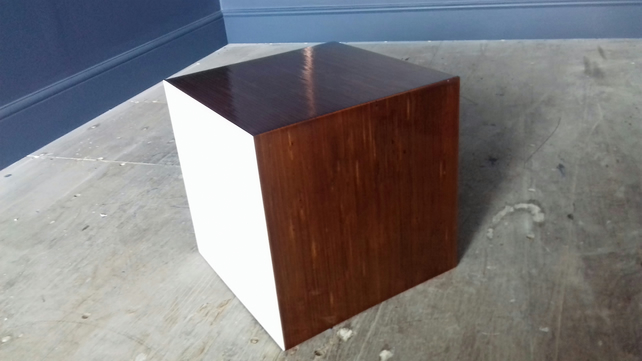 Birch plywood side table