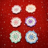 Flower Coasters - Set of 6