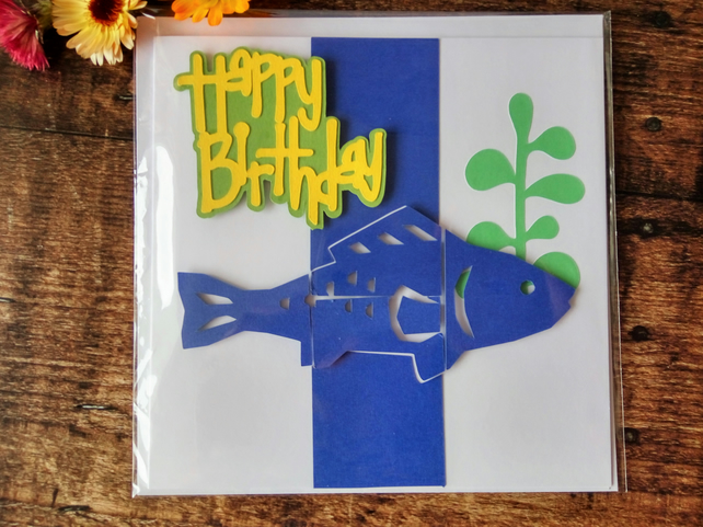 Fish in the Weeds Happy Birthday Card
