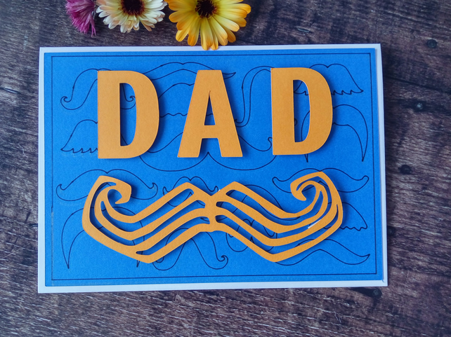 Dad Moustache Card