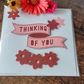 "Pink ""Thinking of You"" Sympathy Card"