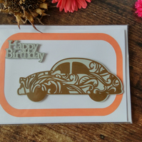 Jazzy Car Birthday Card