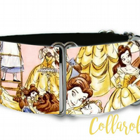 Disney beauty and the beast dog collar in all sizes