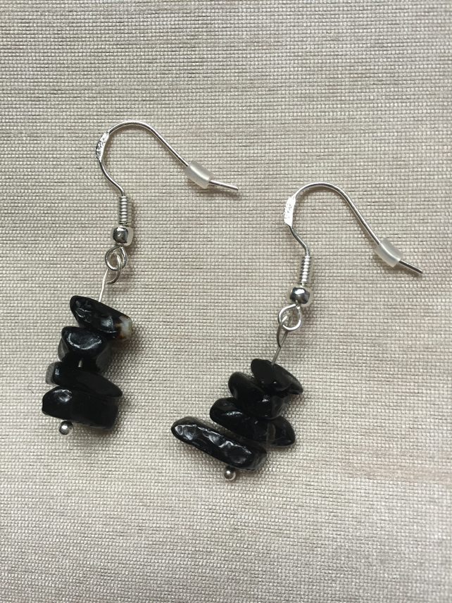 Midnight Storm - Sterling Silver Earrings