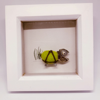 Tortoise frame OOAK handmade.felt and recycled parts watches jewellery