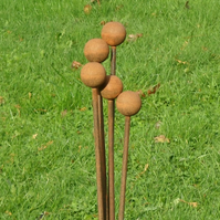 Rusticks Ball Top Stakes 10 mm x 100 cm. 40 mm sphere.