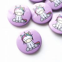 Unicorn Button Badge Unicorn Gift Unicorn Accessories