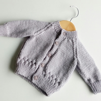 Grey Baby Bubble Cardigan - 0-3 months