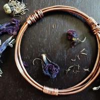 TROELLOG TYWYLL : Hand Crafted Copper Bangle